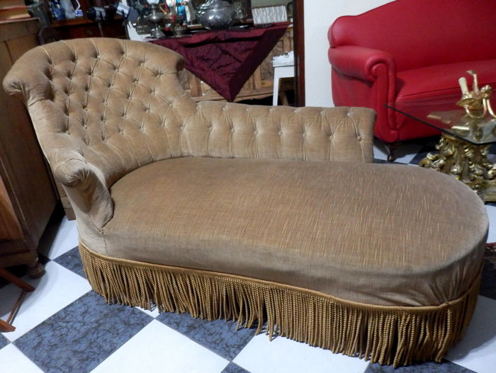 French Chaise-longue recently re-upholstered ca. 1940u0027s : french chaise - Sectionals, Sofas & Couches