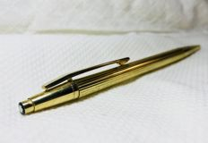 Antique ballpoint pen Montblanc 24k gold
