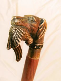 Walking stick with hunting dog