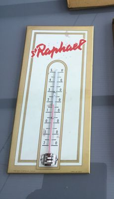 "OLD GLACOID THERMOMETER ""St RAPHAEL"", stamp of the year 1956,1958?"