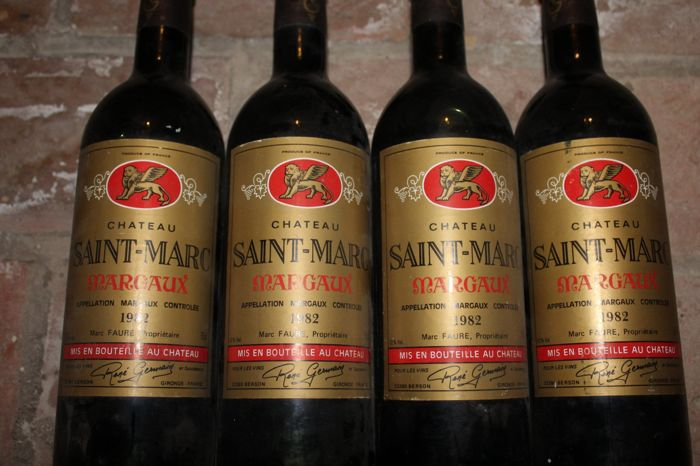 1982 Chateau Saint-Marc, Margaux - 4 bottles