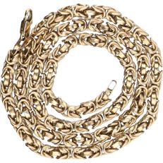 Below legal gold grade, 8 kt - Yellow gold Byzantine link necklace