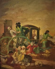 Copy of Francisco de Goya (1746-1828) - El Cacharrero (Miniature)