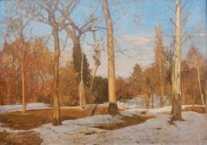 Marco Calderini (1850 - 1941) - The last snow