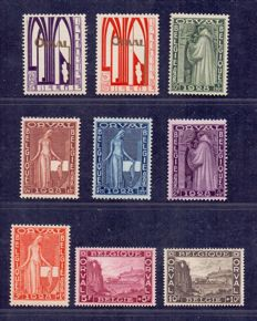 "Belgium 1928 - complete series ""First Orval"" - OBP 258/266"