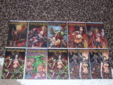 Comics - War Goddess # 0-7  - 10x SC - 1st Edition - (2011)