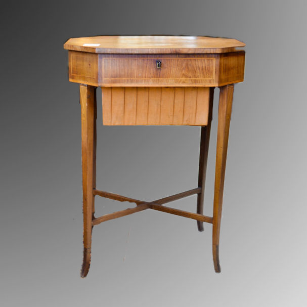 Work table - Biedermeier - Mahogany with fillets - ca. 1840 - Northern Europe