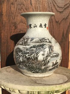 A Chinese vase with winter landscape - China - 2nd half 20th century