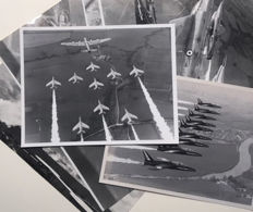7 vintage photos of  the Red Arrows - England - 1960's and 70's
