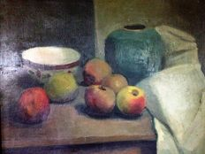Unknown (20th century) - Stilleven met appels