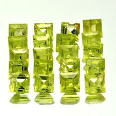 20 peridot - Total 8.41 ct