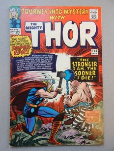 Marvel Comics - Journey into Mystery with the Mighty Thor #114 - With 1st appearance and origin of Absorbing Man - 1x sc - (1965)