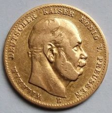 German Empire, Prussia - 10 mark 1872 B - gold