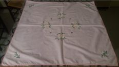 Hand embroidered tablecloth for Christmas / New Year celebration
