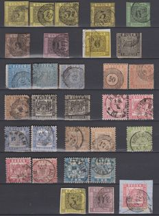 German states. Baden 1851/1868 - Collection