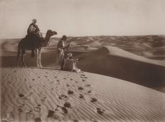 Lehnert and Landrock (act 1904-1914) - Idle Bedouins in the Tunisian desert