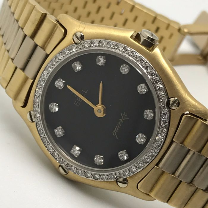 Ebel - Lady Classic special model 1995 bicolour diamonds - 879901 - ladies' - 1990-1999