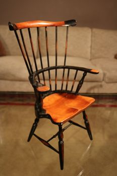 Beautiful miniature wooden model of a Windsor Chair - circa 1900 - England