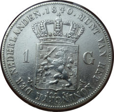 The Netherlands - 1 guilder 1840,  Willem I - silver.