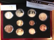 Luxembourg - Year pack 2015 incl. 2 Euro '15 year Anniversary of the Throne' and '125 year Dynasty'