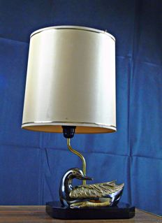 Unknown producer - brass duck table lamp