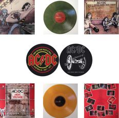 AC/DC Lot of Two LP's In Very Different & Original Australian Sleeves On Coloured Vinyl