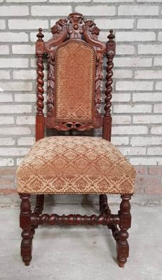 Oak hunting chair - the Netherlands / Belgium - c. 1880/1900