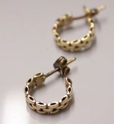 14 kt Yellow gold creole earrings - Measurements: 22 mm