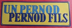 Metal sign - Pernod Pernod Fils - 50-60s