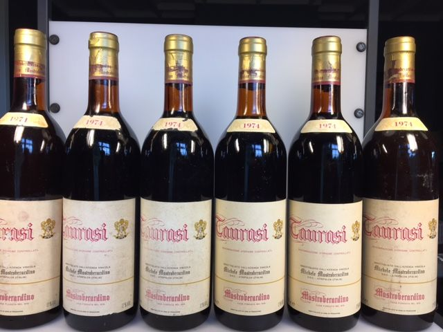 1974 Taurasi (6 bottles) and 1966 Taurasi Mastroberardino (2 bottles) - in total 8 bottles (0,75L)