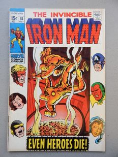 Marvel Comics - The Invincible Iron Man #18 - with Avengers appearance - 1x sc - (1969)