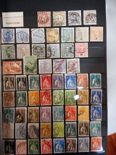 Europe - batch of stamps from various countries on loose album sheets