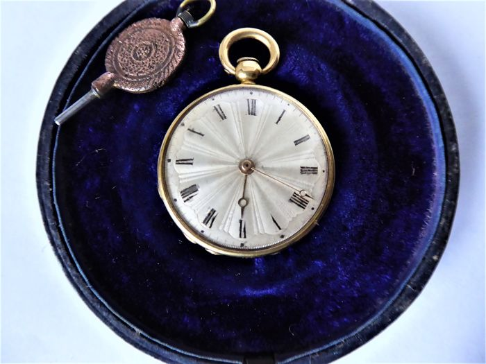 Aubert & Capt. - pocket watch. - Unisex - 1850-1900