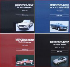 4 Books on Mercedes SL - 4 generations - series w113, 107 (sl & slc), R129 & R230