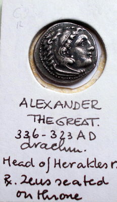 Ancient Greece - Macedonia Silver drachma, Alexander the Great, 336-323 BC. Kolophon, approx. 322-319 BC