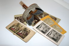 Antique stereoscope for relief/3D photographs - Manufactured in the USA - end 19th century