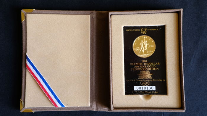 USA - 10 Dollar 1984 Olympic - gold
