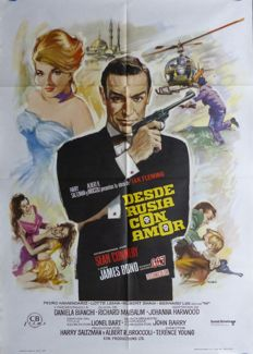From Russia With Love James Bond 007 - Spanish Poster Re-Release 1974 - Sean Connery