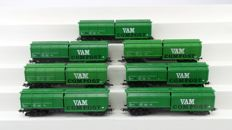 Roco H0 - 45933/4368 - Seven VAM Compost wagons of the NS, with end signal light