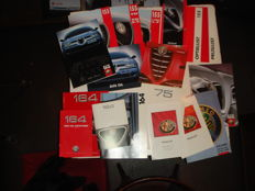 Alfa Romeo, 18x leaflets, option lists and price lists of models 75,155,156,164 and 166.