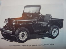 Owners Manual Willys-Overland Universal Jeer Model CJ-3A  - 1948