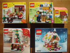 5 x Lego Exclusive/collectable sets - 40139 Gingerbread House, 40223 Snow Globe, 40121 Painting eggs, 40123 Thanksgiving Turkey and 5004468 Iconic Easter minifigure