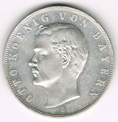 German Empire, Bavaria - 3 Mark 1911 D - silver