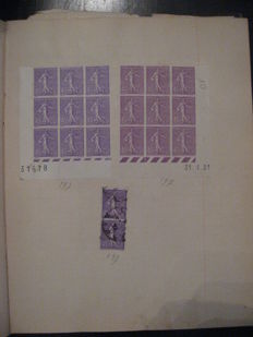 World 1865/1950 - Bulk lot of stamps and merchant's stock including France