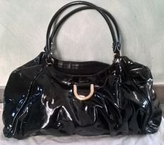 Gucci  –  Black Patent Leather D Ring Large Hobo Bag - *No Minimum Price*