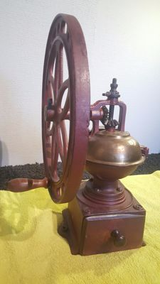 Large cast iron coffee grinder