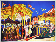 Anonymous - 'Auto scooter and Fun Fair' - ca. 1955