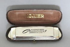 Hohner harmonica Chromonica II Deluxe model A ' 440, made in Germany -50's