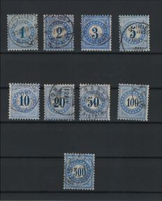 Swizterland 1878/1908 - Collection of tax stamps