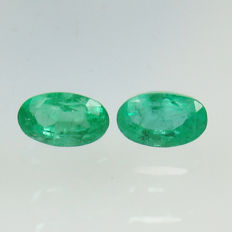 Emerald Pair - No Reserve Price - 0.61 ct  total